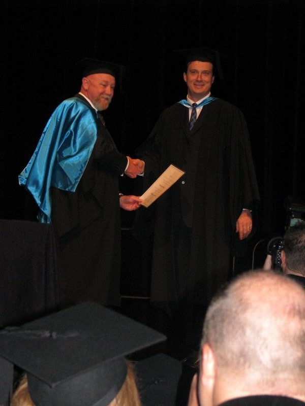 Andrew Dalwood Specialist Physiotherapy Graduation
