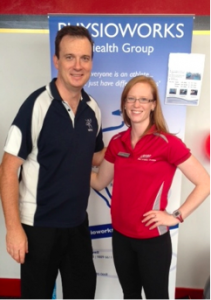 WPPC Director Andrew Dalwood with SNAP Fitness Manager Katrina Knight