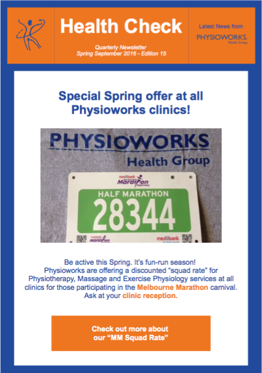 physioworks health check edition 15